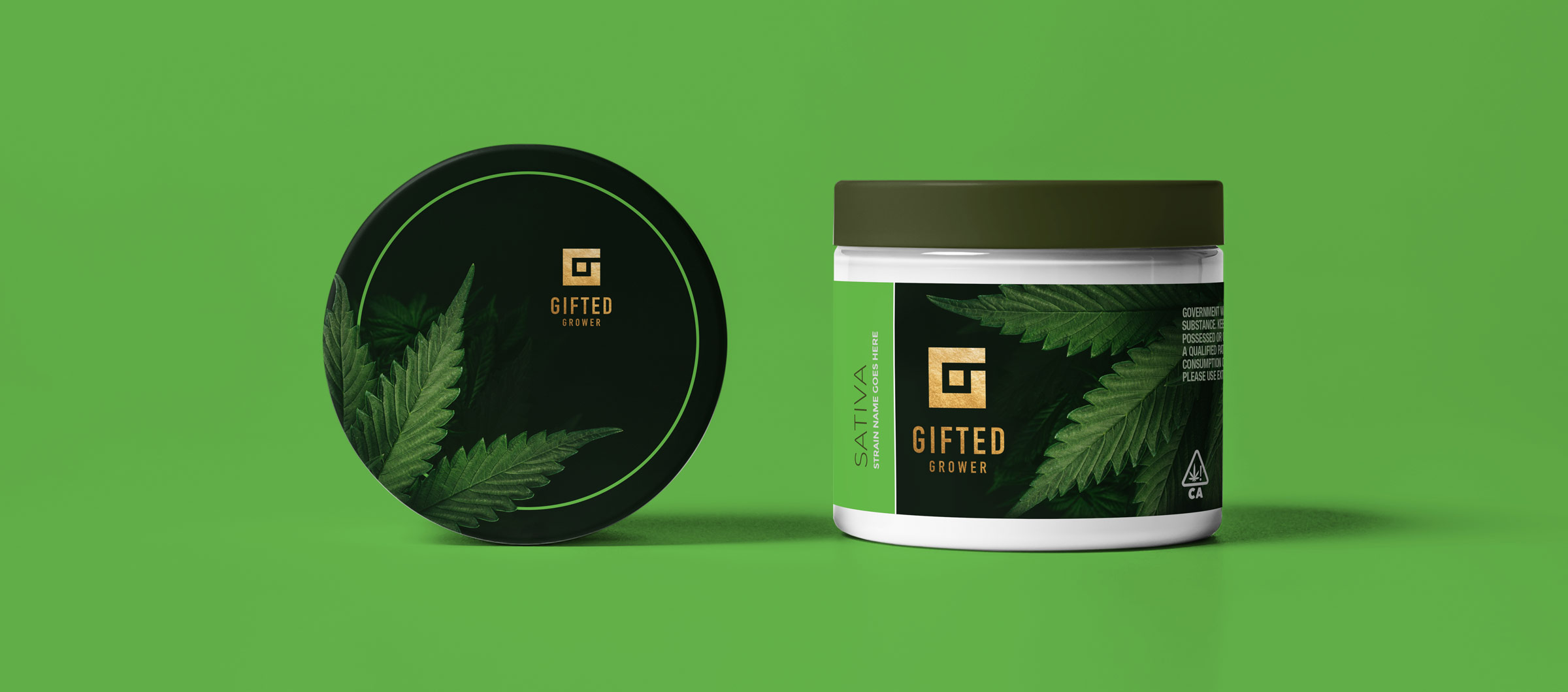 Gifted Grower brand identity, packaging design